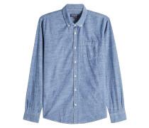 Hemd aus Baumwolle im Denim Look