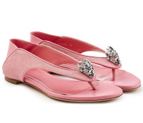 Sandalen aus Velours- und Glattleder