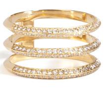 Trio-Ring aus 18kt Gold mit weißen Diamanten