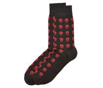 Socken mit Baumwolle und Totenkopf-Print