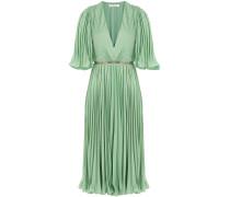Plissée-Kleid mit Gürtel