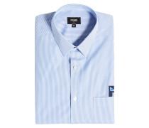 Gestreiftes Hemd aus Baumwolle mit Applikation