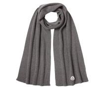 Schal aus Wolle mit Logo-Applikation