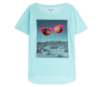 Print-Shirt Surreal Desert Hi-Low