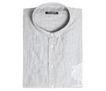 Gestreiftes Hemd aus Baumwolle mit Stickerei