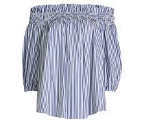 Gestreiftes Off-Shoulder-Top aus Baumwolle