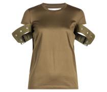 T-Shirt aus Baumwolle mit Zierriegeln