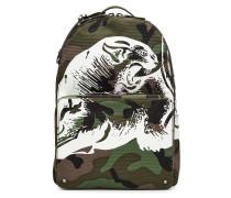 Print-Rucksack Camouflage aus Baumwolle