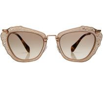 Sonnenbrille mit Glitter-Décor