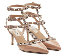Kitten-Heel-Pumps Rockstud aus Lackleder