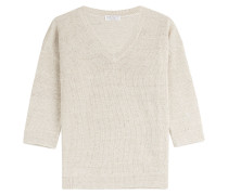 Strick-Pullover aus Leinen