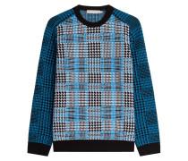Hahnentritt-Pullover aus Merinowolle