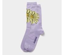 Socken mit floralem Muster