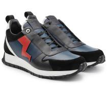 Sneakers aus Velours- und Glattleder