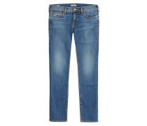 Slim Straight Leg Jeans Cora aus Baumwoll-Stretch