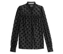 Transparente Bluse mit Polka Dots