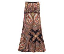 Maxi-Skirt aus Seide mit Paisley-Muster
