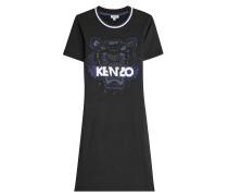 Besticktes Shirt-Kleid aus Baumwolle