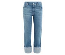 Cropped Jeans aus Baumwolle