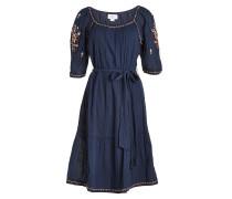 Besticktes Kleid Monae aus Baumwolle
