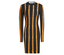 Bedrucktes Bodycon-Kleid mit Wolle