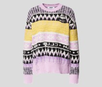 Pullover mit Allover-Muster