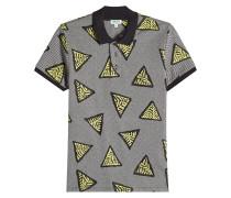 Gemustertes Poloshirt aus Tech-Jersey