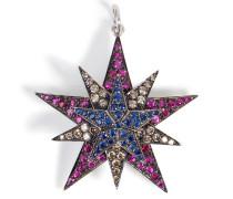 Anhänger aus 18kt Gold mit Diamanten, Rubinen und Saphiren
