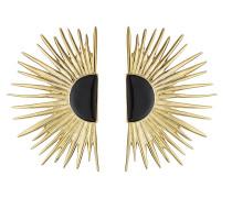 18kt vergoldete Ohrringe mit Emaille