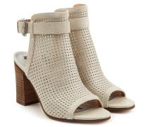Block-Heel-Sandalen Emmie aus perforiertem Leder