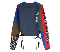 Pullover mit Print und Schnürungen
