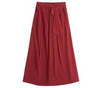 Langer Wrap-Skirt aus Seide