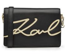 Schultertasche K/Signature aus Leder