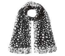 Print-Schal mit Seide