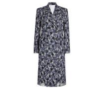 Karierter Mantel aus Schurwolle mit Tüll-Overlay