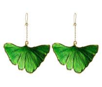 Ohrringe mit 18kt vergoldetem Ginkgoblatt-Anhänger