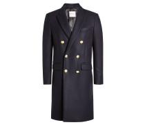 Bestickter Mantel mit Wolle und Kaschmir