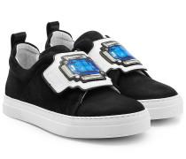 Sneakers aus Leder mit Patch-Detail