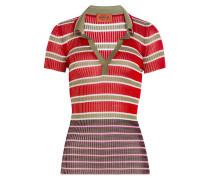 Gestreiftes Polo-Shirt aus Rippstrick