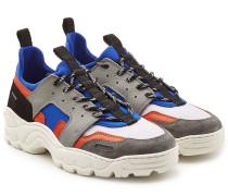 Sneakers aus Leder, Neopren und Mesh