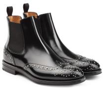 Chelsea-Boots aus Leder mit Nieten