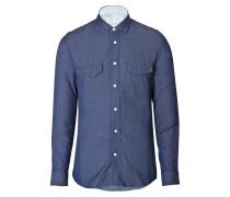 Denim-Hemd aus Baumwolle
