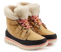 Ankle-Boots mit Fell-Optik