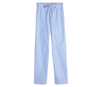 Gestreifte Pyjamahose aus Baumwolle