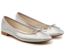Ballerinas Cendrillon aus Leder mit Glitter Finish