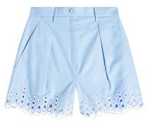 High Waist Shorts aus Baumwolle mit Cut Outs