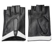 Fingerlose Ziegenleder-Handschuhe mit Applikation