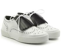 Loafers aus Leder mit Fransen