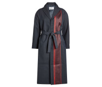 Mantel mit Wolle und Print