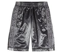 Shorts aus Satin mit Knopfleiste